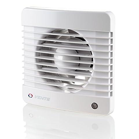 Évents 150125070Mth K 150mm Silencieux D'une Cuisine Extracteur d'air avec détecteur d'humidité Minuteur–Blanc brillant