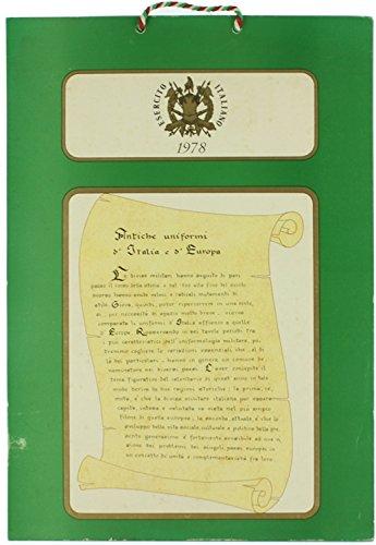 CALENDARIO UNIFORMI STORICHE DELL'ESERCITO ITALIANO 1978 con cordoncino tricolore originale.