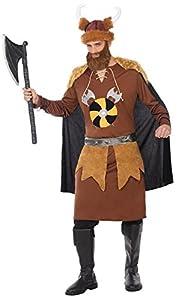Atosa-38997 Disfraz Vikingo, Color marrón, M-L (38997