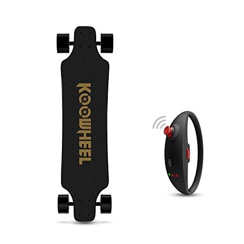 KOOWHEEL Skateboard Elektro Version aktualisiert D3M Hub A Bürste doppelt Geschwindigkeit mit Tasche 2Fernbedienungen -