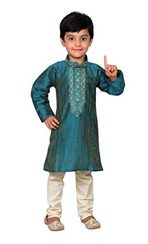 Desi Sarees Mehendi Boys Kurta Pajama Kameez Sherwani 858 (1.