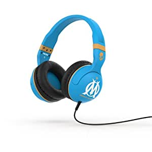 Skullcandy Hesh 2.0 Over-Ear Wired Headphones with In-Line Microphone - Olympique Blue/Gold