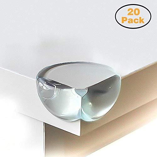 Norjews Eckenschutz und Kantenschutz, 20er-Pack Stoßschutz transparent aus Silikon für Tisch und...