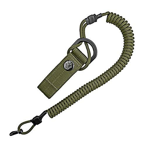 Spiral-Kabel, elastischer Schlüssel-Anhänger aus Paracord, Lanyard, Schlüssel-Band, Stretch Fang-Riemen, RSG-Halterung mit Karabiner -