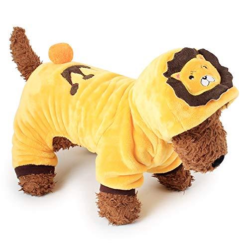 Lion Soft Kostüm - CITÉTOILE Korallen Fleece Pet Dress Up Netter Hund Kleidung Winter Hoodies Soft Coats Kostüm Lion L