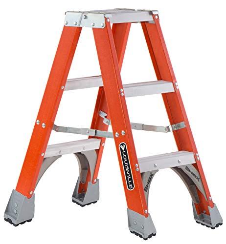 Louisville Escalera Fibra de vidrio escalera delantera, 3-Feet, índice de trabajo 300-Pound