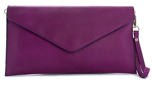 Big Handbag Shop - Borsetta senza manici donna (Electric Purple)