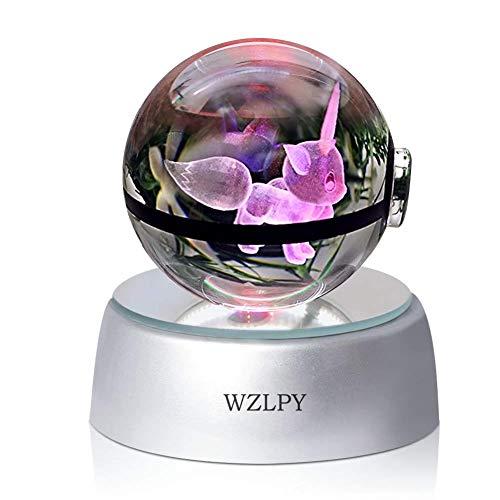 ll, LED-Nachtlicht für zum Beispiel Kinder oder als Geschenk, 50 mm große Kristallkugel mit automatischer Farbveränderung Modern Eeve ()