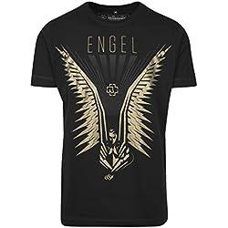 Rammstein Hombre alas tee–Camiseta, Hombre, Flügel tee, Negro