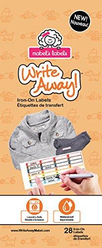 Mabel's Labels ML-876720000084 Write Away Bügeletiketten für Jungen, 28 er pack, orange - Orange Mikrowelle