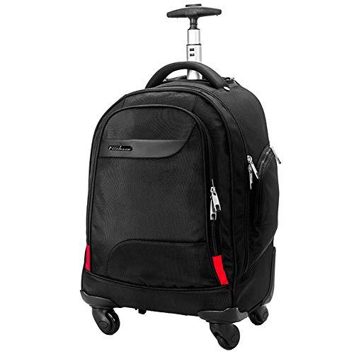 XDD Rollender Laptop-Rucksack für Männer Frauen Trolley-Rucksack Reiserucksack Laptop-Rucksack mit Rollen Rollender Trolley-Rucksack Geeignet für die Reiseakademie -