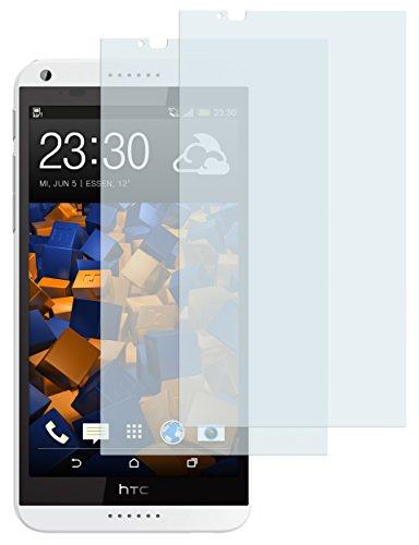 mumbi Schutzfolie kompatibel mit HTC Desire 816 Folie klar, Bildschirmschutzfolie (2x)