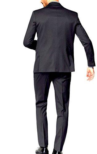 Keskin Collection Anzug Schwarz Stylisch Festlich Größem 24-27 und 90-106 NEU + Gratis Hemd kurze Zeit Schwarz