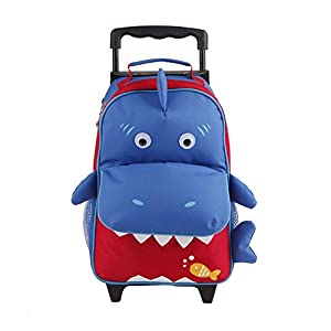 Yodo Convertible Playful 3-Way Childrens Suitcase or Little Kids Trolley Bag, Large Front Quick Access Pouch for Snacks or Knickknacks, for Boys and Girls Age 3+ from Yodo Group