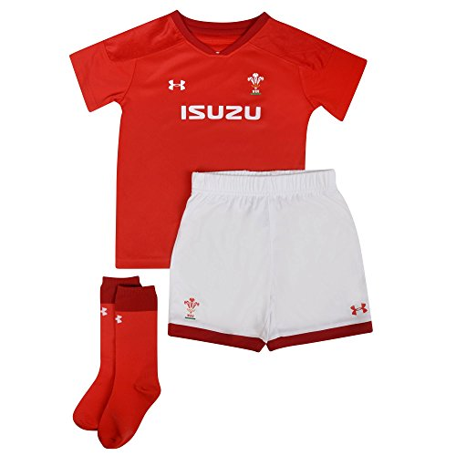 Wales WRU 2017/19 Infant Home Replica Rugby Kit - Red