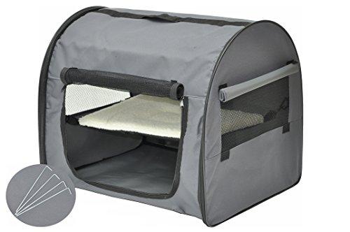 nanook Reisetasche Schlaftasche - für Hunde, Katzen und Kleintiere - anthrazit - 59 x 46 cm
