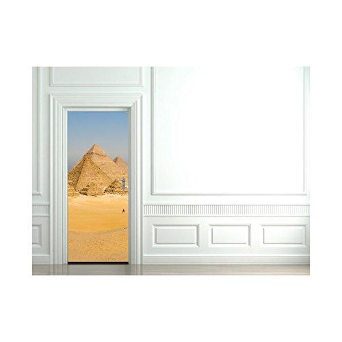 Adhesivo para puerta, diseño de pirámide en Egipto
