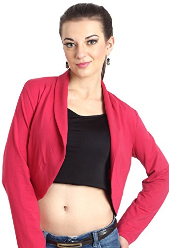Avirate Women's Body Blouse Shirt (AVBO100020_Magenta_M)