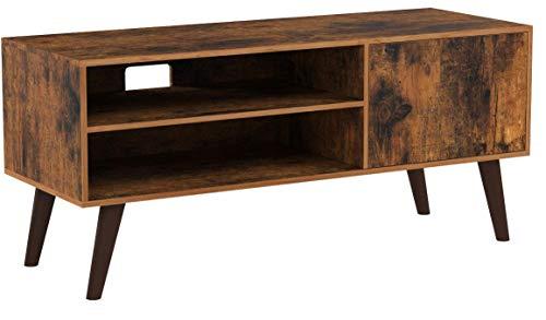 VASAGLE Retro Lowboard, TV-Regal, Fernsehtisch, Fernsehschrank im 50/60er Jahre Look, Retro-Möbel für Ihren Flachbildschirm, Spielekonsolen, Wohnzimmer, Büro, Holzoptik LTV09BX