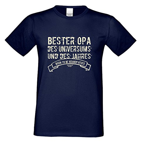 Herren T-Shirt Vatertagsgeschenk Geburtstagsgeschenk :-: Geschenkidee Männer Papa Opa :-: Bester Opa der Welt auch in Übergrößen blau-14