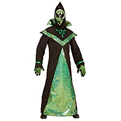 WIDMANN 03982–Adultos Disfraz Alien, perchero y máscara