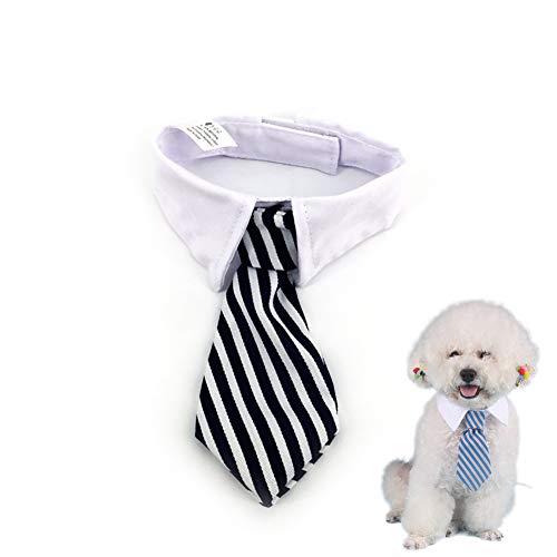 Katzen-Hundekrawatte Pet Kostüm Krawatte Kragen für kleine Hunde Welpen Grooming Zubehör Schwarzweiss-Streifen 1PC -