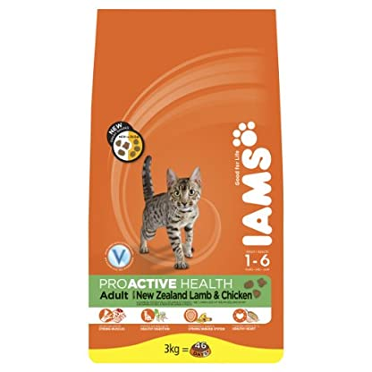 Iams Dry Cat Food Adult Lamb, 3 kg - Pack of 3 1