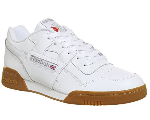 Reebok Workout Plus – Chaussures Sportives, homme blanc