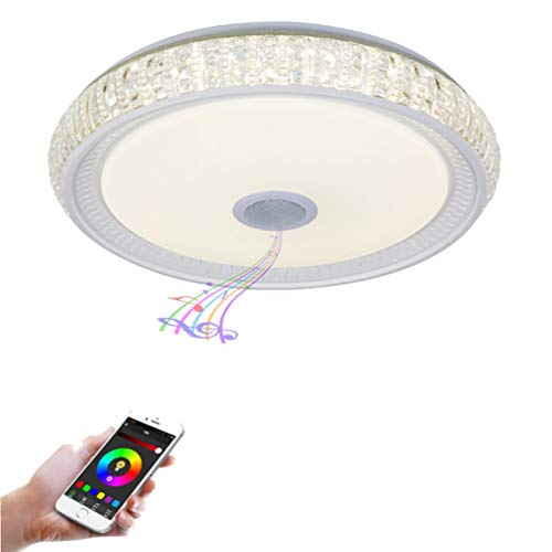 YWYU Bluetooth Música Lámpara de Techo LED Audio Inteligente Luces de Colores...