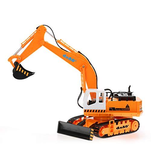 RC Auto kaufen Baufahrzeug Bild 4: deAO 6 Kanal Fernsteuerung Baubagger Bagger Bulldozer Truck mit Licht und Sounds*