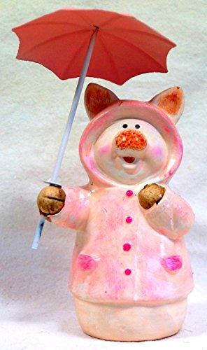 rosch, Schaf und Kuh mit Schirm in verschiedenen Farben (rosa) (Schwein Dekorationen)