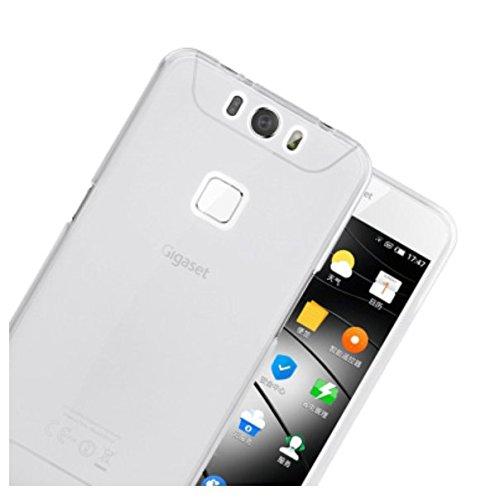 PREVOA ® 丨Transparent Silikon Hülle Cover Case Schutzhülle Tasche für Gigaset ME pro Smartphone (5,5 Zoll (13,97 cm) - (Weiß)
