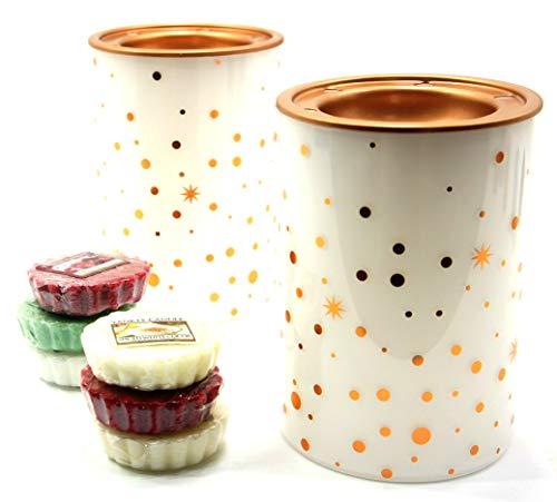 2x Offizielle Yankee Candle Zauberhafte Weihnachten Wax Melt Wärmer Brenner gehören 6x Sortiert Festive Season Tarts