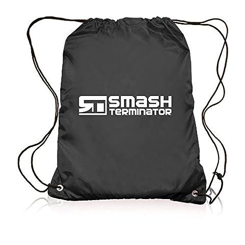 Drawstring Sports Bag Backpack Waterproof Bag Gym PE DUFFLE School Kids Boys Girls Sack by Smash Terminator (Black)