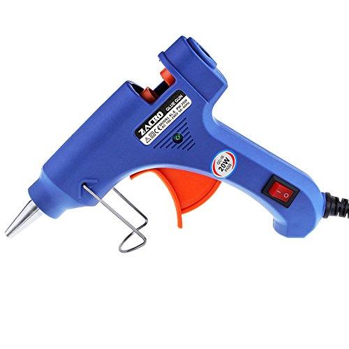 Zacro Pistola de Silicona con 30psc Melt Glue Sticks De Alta Temperatura de Fusión de Pegamento Kit de Pistola de Pegamento para Artesanía de Bricolaje Pequeñas y Reparaciones Rápidas en el Hogar y la Oficina (20 vatios  azul)