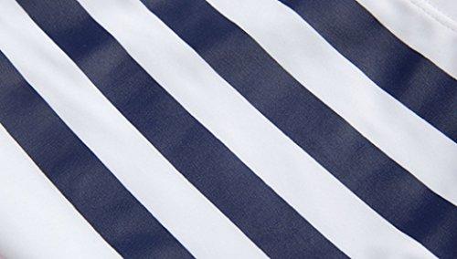 KUWOMINI.Fashion Streifen Herren-Badehose Klassisch Mode Schwimmen Der Männer Stämme Blue