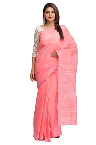 ADA Lucknow Chikankari Needlecraft Regular Wear Cotton Saree A193364