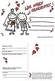 Unbekannt 50 Ballonflugkarten Wir haben geheiratet, Herzchen