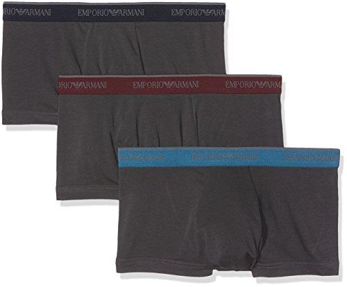 Emporio Armani Underwear Herren Boxershorts 1113577A717, 3er Pack, Grau (Fumo 18844), Large (Armani Herren-unterwäsche)