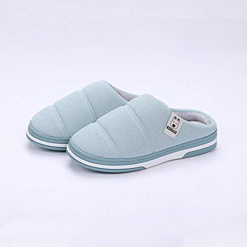 Ymygyr pantofola di donne,pantofole invernali da uomo, suole antiscivolo per la casa, adatte per scarpe calde per interni ed esterni azzurro 39/40