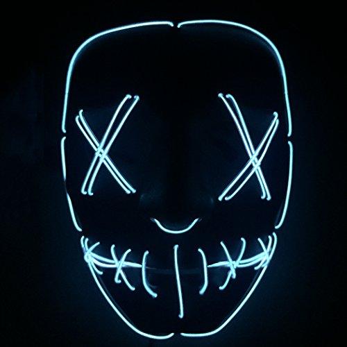 Fansport Halloween Maske Party Licht Maske Kreative LED Leuchtmaske Cosplay Maske für Halloween Weihnachten