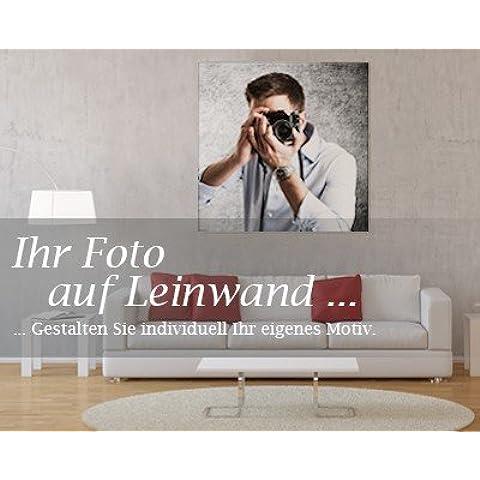 Offerta di lancio: Bilderdepot24 Immagine su telaio a cunei Foto su tela augura foto, allungato il formato quadrato di tela - legno - Galleria - 30x30 cm - Già montato sul telaio, stampa su tela di cotone 100%, Stampa artistica intelaiata e pronta da