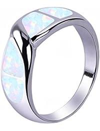 Geschaffen Opal Geburtsstein Ringe Multi Farbe Band Ringe Paar Geschenk Zum Jahrestag