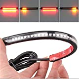 3528 Pasted 32 LED Motorcycle Flexible Strip Tail Brake Stop Turn Signal License Plate Light Integrated Red Amber Truck by Heart Horse