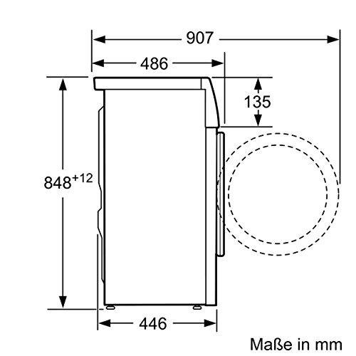 Siemens WS12T440 iQ500 Waschmaschine FL / A+++ / 119 kWh/Jahr / 1175 UpM / 6,5 kg / 8800 l/Jahr / VarioSoft Trommelsystem /WaterPerfect / weiß - 7