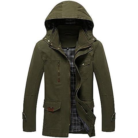 Nuovo Autunno e Giacca Con Cappuccio a Lungo Degli Uomini Di Inverno Casuale Cotton Jacket