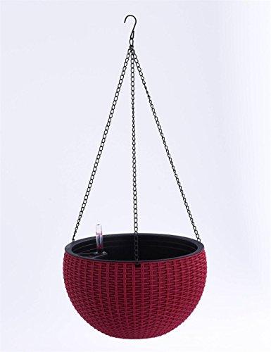 XYZ Creativa pastorale resina Hanging Vasi, Vaso appeso, assorbimento automatico dell'acqua Planter Fiore delicato durevole ( colore : Rosso )
