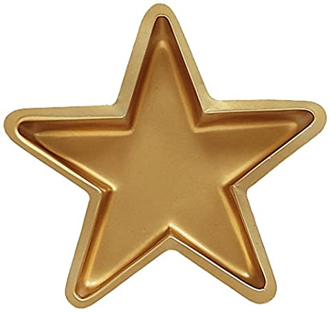 Creative Converting Plastic Star Shaped Serving Tray, Gold