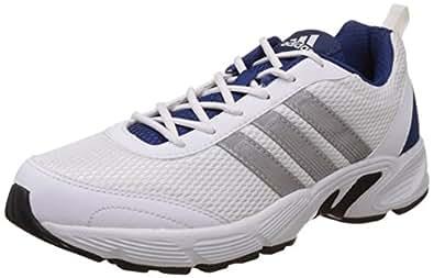 adidas Men's Albis 1.0 M White, Silver and Dark Blue Running Shoes (10 UK/India) (44.7EU)
