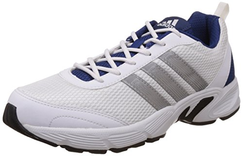 adidas Men's Albis 1.0 M White, Silver and Dark Blue Running Shoes (7 UK/India) (40.7EU)